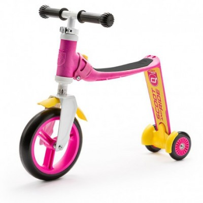Patinete 2 En 1 Highwaybaby Plus Rosa Amarrillo