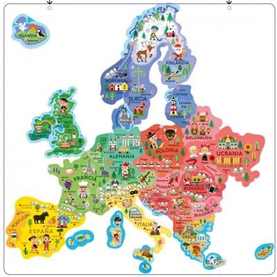 Mapa Europa Magnetico