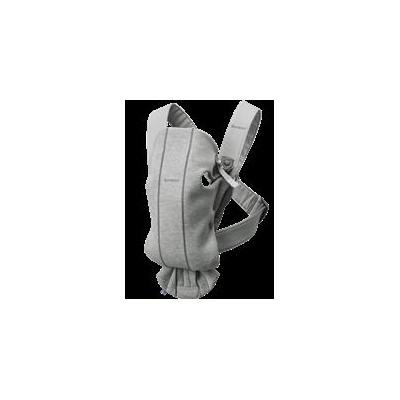 Mochila Porta Bebé Mini, Gris Claro, 3D, Jersey