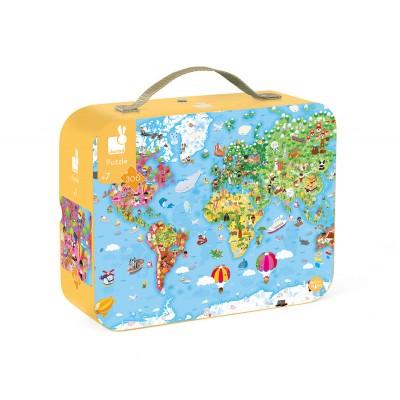 Puzzle Gigante Atlas Mundo