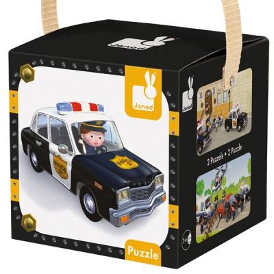 Puzzle Coche Policia