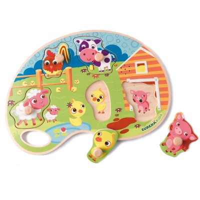 Puzzle Musical Animales Granja
